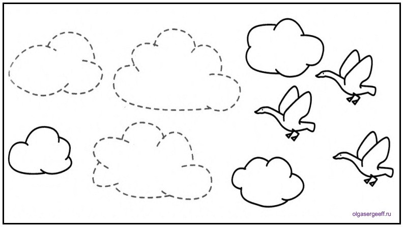 Облако раскраска для детей
